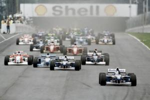 The start of the 1995 Argentine Grand Prix.