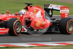Sebastian Vettel running in second place