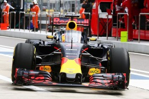 Daniel Ricciardo trialling the Red Bull racing cockpit protection device in FP1 in Sochi
